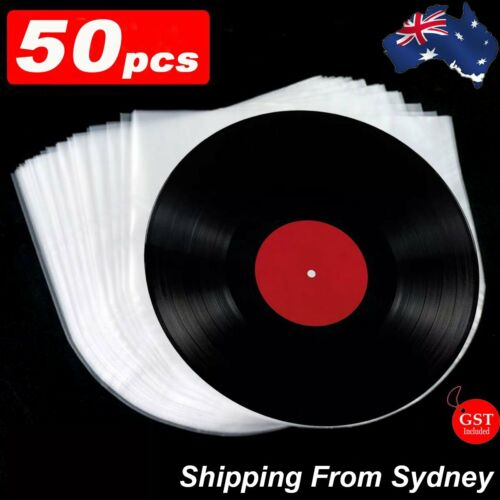 "50pcs Sleeves Inner LP Music Durable for 12"" Vinyl Record Plastic Record Cover"