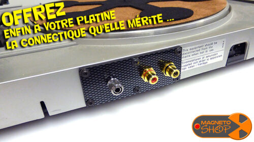 """UPGRADE KIT GOLD RCA CINCH PLAQUE """"AUDIO ONLY"""" PLATINE VINYLE PHONO TURNTABLE"""