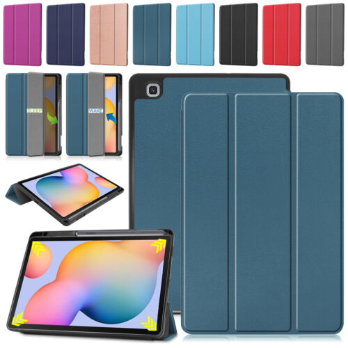 For Samsung Galaxy Tab S6 Lite 10.4 P610 P615 Leather Case Cover With Pen Holder