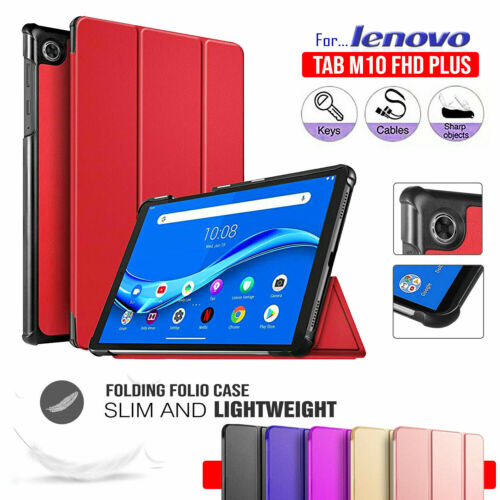 For Lenovo Tab M10 FHD Plus TB-X606F X606 Smart Cover Flip Magnetic Leather Case