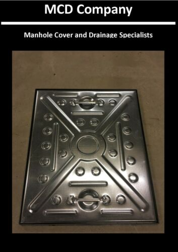 MANHOLE COVER & FRAME 600x450  2.5Tonne - All steel lid and Frame, Access Cover