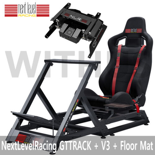 New Next Level GTTRACK Racing Stand and Chair + MOTION V3(For PC) + Floor Mat