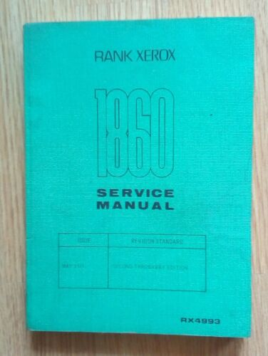 Antique Manual Service Xerox 1860