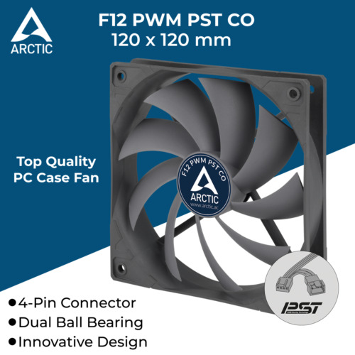 120x120x25mm Cooling Fan Silent Fan with PWM for Computer PC Case Cooler 120mm