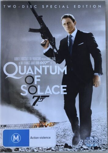 QUANTUM OF SOLACE OO7 Two Disc Special Edition DVD Daniel Craig R4 Like New