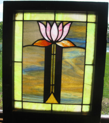 ANTIQUE STAINED GLASS WINDOW - ca. 1910s