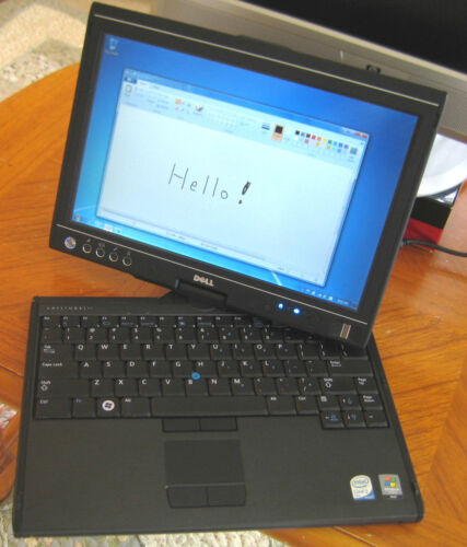 """*Slow 80GB 1.8"""" 4200rpm HDD* Win10 Pro! Dell Latitude XT Tablet, Docking Station"""