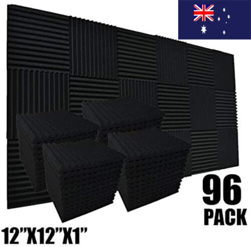 96PCS Studio Acoustic Foam Sound Absorption Insulation Proofing Sponge 30*30cm