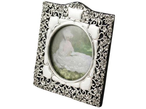 Antique Edwardian Sterling Silver Photo Frame Birmingham 1901