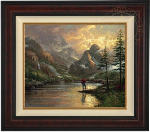 """Thomas Kinkade Almost Heaven 20"""" x 24"""" Limited Edition S/N Canvas (Burl Frame)"""