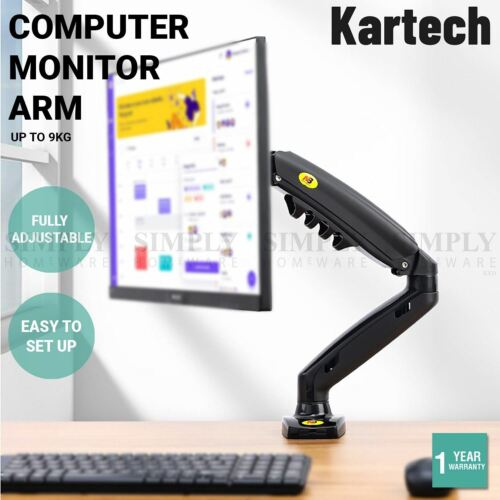 Kartech Computer Monitor Arm LCD Holder Screen Bracket Display Single Stand VESA