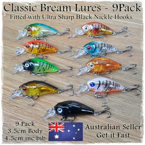 Diving 3.5cm Flathead **Clearance** Bream Fishing Lures Redfin Trout Bass