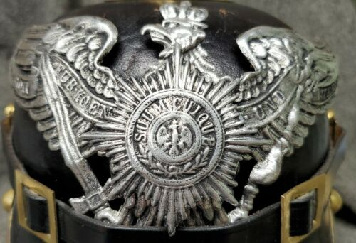 WWI Reproduction Prussian Garde Pickelhaube Helmet Plate with AGED Silver FinishGermany - 156409