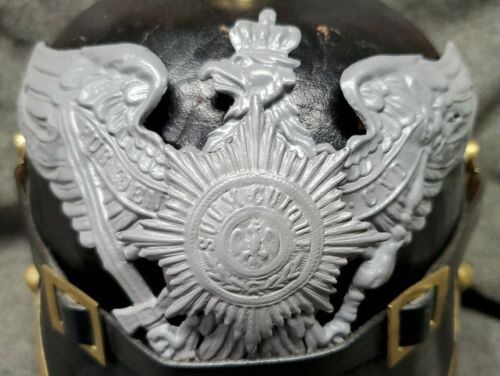 WWI Reproduction Prussian Garde Pickelhaube Helmet Plate with Gray FinishGermany - 156409