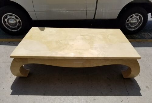 1970'S  MING STYLE GOAT SKIN COFFEE TABLE  - P