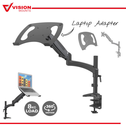 Monitor Arm Holder with Notebook Adaptor Mount Stand Gas Spring VM-GM112D-D15