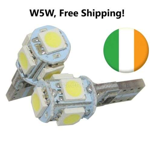 W5W LED 501 T10 12V Canbus bulbs (X2) Interior Lights, Cool White Free Shipping!
