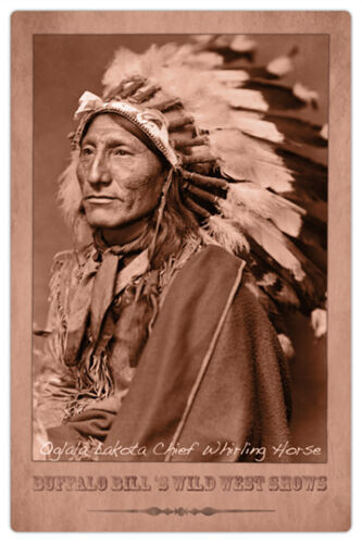 OGLALA CHIEF WHIRLING HORSE Buffalo Bill's Wild West Show Photo Cabinet Card