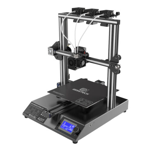 New Geeetech Updated A20T 3-in-1-out Extruder Mix Color 3D Printer FDM Technolog