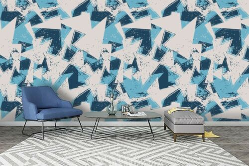 3D Geometry Triangle Self-adhesive Removable Wallpaper Murals Wall Sticker FC