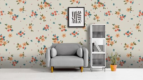 3D Floral Pattern Self-adhesive Removable Wallpaper Murals Wall Sticker FC
