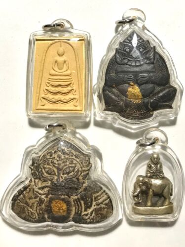 ACRYLIC CASE/CASING PHRA LP RARE OLD THAI BUDDHA PENDANT(bought amulet in store)