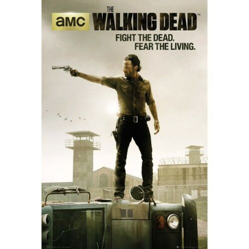 """The Walking Dead Poster - Fight the Dead, Fear the Living - 91 x 61 cm 36"""" x 24"""""""