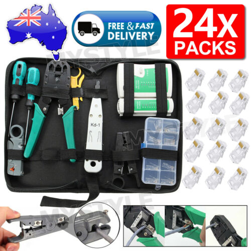 CAT6/5 Lan Network Cable Tool Tester Crimper RJ45 Ethernet LAN Kit Crimping Set