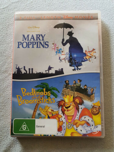 Mary Poppins / Bedknobs and Broomsticks DVD Scratched Tested and Plays