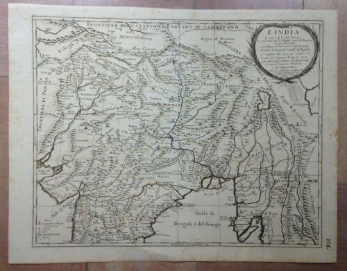 INDIA NEPAL PAKISTAN 1683 GIACOMO ROSSI UNUSUAL LARGE ANTIQUE MAP 17TH CENTURY
