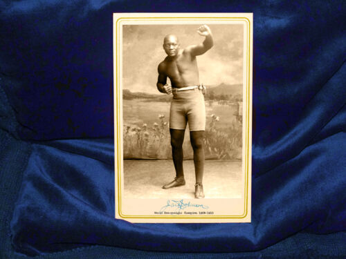 JACK JOHNSON Boxing Champ & Legend Cabinet Card Photo Vintage Fights Heavyweight