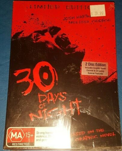 NEW SEALED 30 DAYS OF NIGHT *Limited Edition inc Graphic Novel Region 4