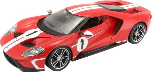 Voiture 1/18 FORD GT 2017 HOMMAGE FORD GT40 MKIV MAISTO - Rouge
