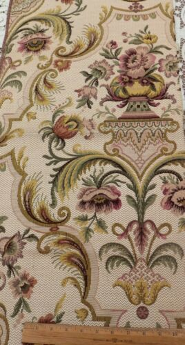 Antique French c1900 Medieval Style Cotton Jacquard Tapestry Fabric Sample~32X16
