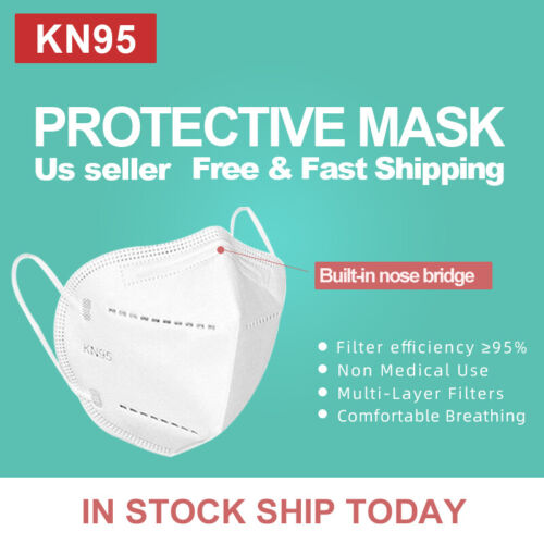 50Pcs KN95 Protective 5 Layers Face Mask, BFE 95%, PM2.5, Disposable Masks <br/> Authorize US Retailor!!! US Inventory SHIP