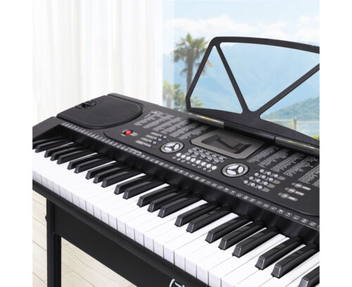 Elite 61 Keys Electronic Piano Keyboard Music LED Electric Holder Stand Adaptor