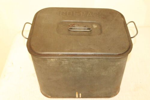 ANTIQUE PRIMITIVE TIN COL PAC CANNER WITH RACK FARM HOUSE DECOR
