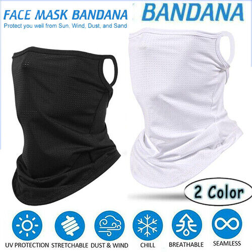 Cycling Neck Cover Half Face Mask Scarf Balaclava Motorcycle Sun Uv Protection