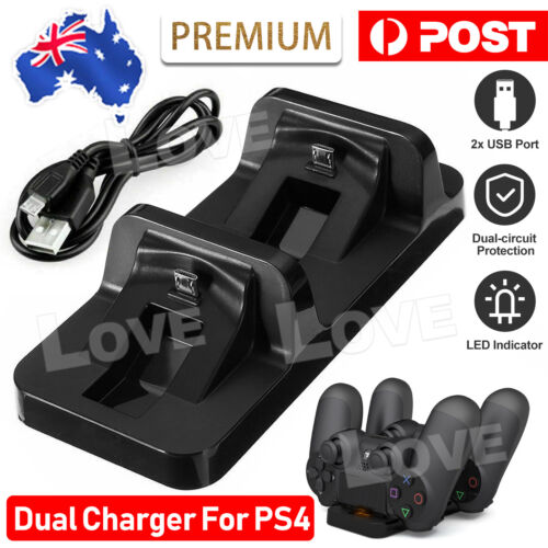 For PS4 Charger Controller Dual Charging Dock Stand USB Base for PlayStation 4