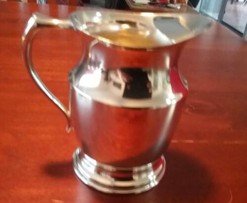 VINTAGE RETRO CRUSADER REPRODUCTION SMALL SILVER PLATE EPNS PITCHER