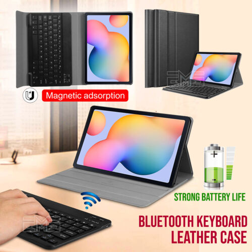 """For Samsung Galaxy Tab S6 Lite 10.4"""" Bluetooth Wireless Keyboard Case Cover"""