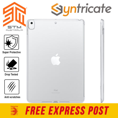 iPad 10.2 (7th Gen)  STM Half Shell Rugged Protective Slim Clear Case - Clear