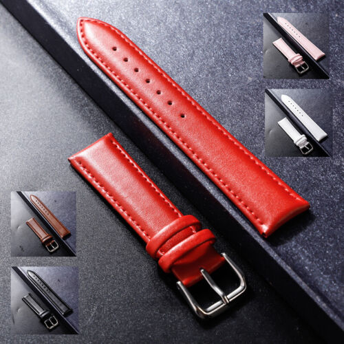 12-24mm Unisex Vintage Genuine Leather Wristwatch Bands Replacement Watch Strap