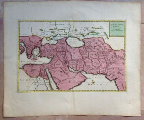 MIDDLE EAST ARABIA 1654 P DUVAL / COVENS MORTIER LARGE NICE ANTIQUE MAP 17e CENT