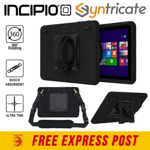 Surface Go Incipio Capture Ultra Rugged Case With Rotating Hand Strap - Black