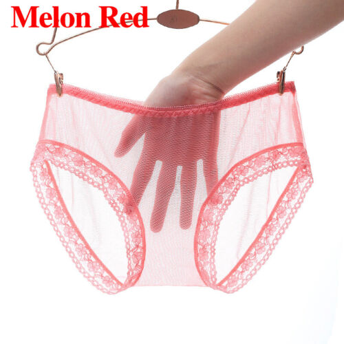 Women Sexy See Through Panties Briefs Lace Sheer Knickers Lingerie Underwear