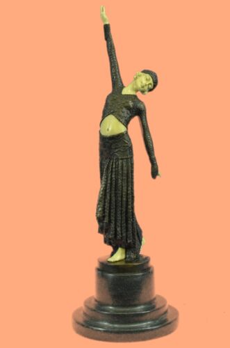 Bronze Sculpture, Hand Made Statue Signed Art Deco Chiparus Belly Dancer Bronze