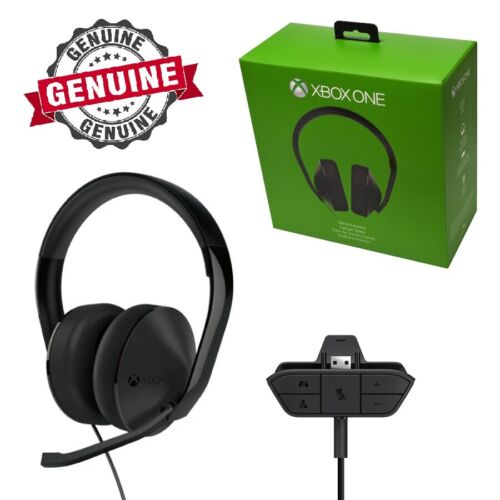 Genuine Microsoft XBOX One Stereo Gaming Chat Headset Fits Old & New Controllers