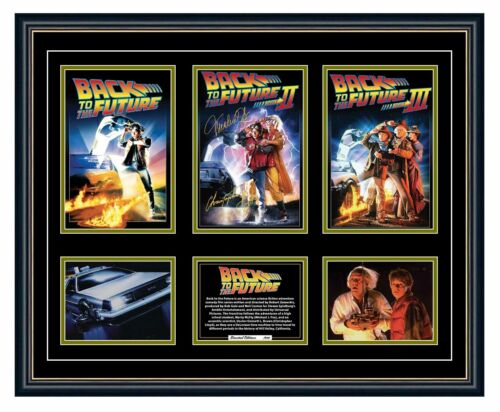 BACK TO THE FUTURE TRILOGY MICHAEL J FOX POSTERS SIGNED FRAMED MEMORABILIA