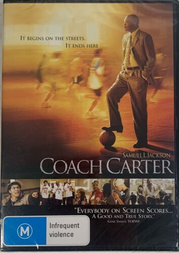 Coach Carter DVD R4 PAL Brand New Sealed Sent Tracked